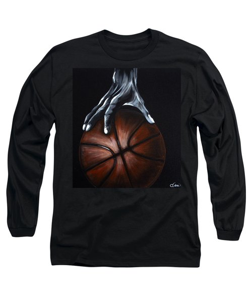 Basketball Legend Long Sleeve T-Shirt by Dani Abbott
