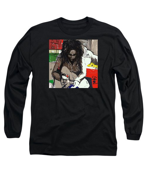 Basquiat Long Sleeve T-Shirt by Helen Syron