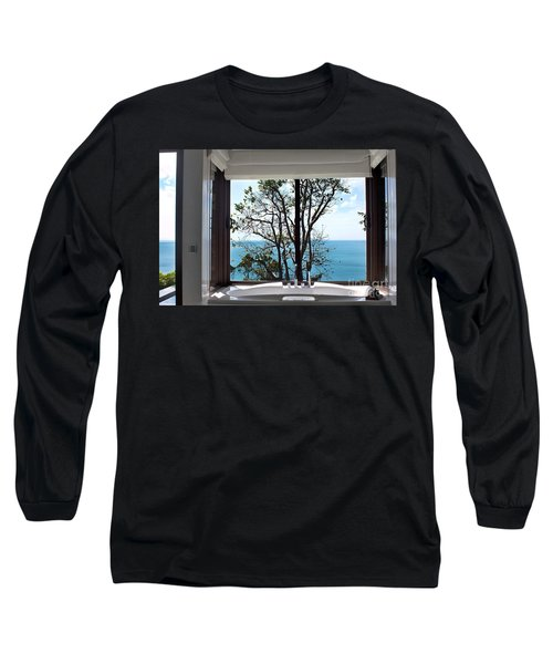 Bathroom With A View Long Sleeve T-Shirt