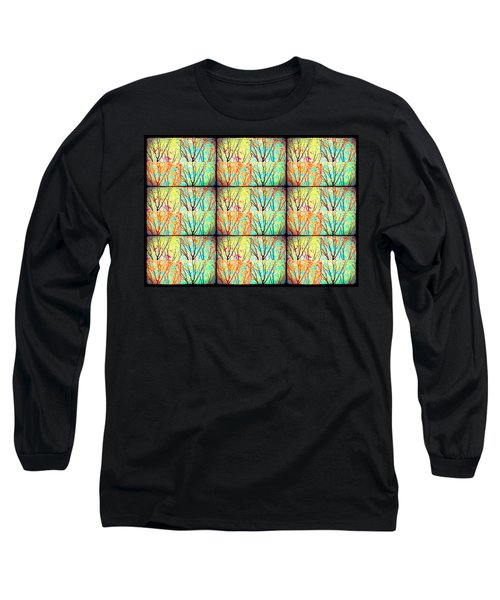 Batik Trees Collage Abstract Long Sleeve T-Shirt