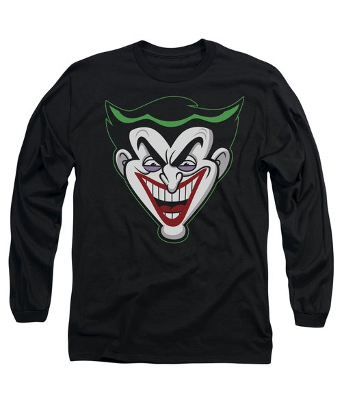 Batman Bb - Animated Joker Head Long Sleeve T-Shirt