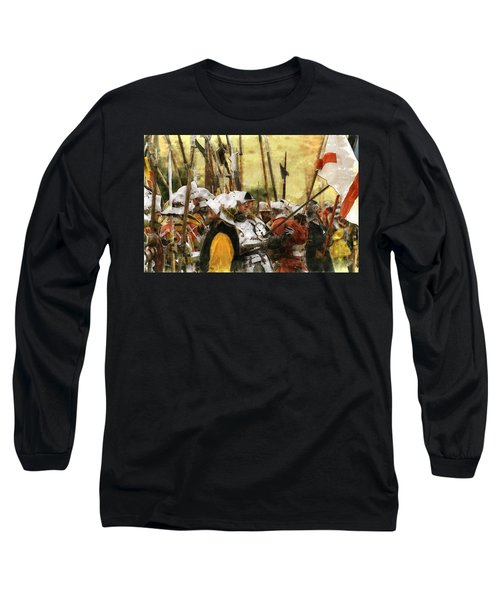 Long Sleeve T-Shirt featuring the digital art Battle Of Tewkesbury by Ron Harpham