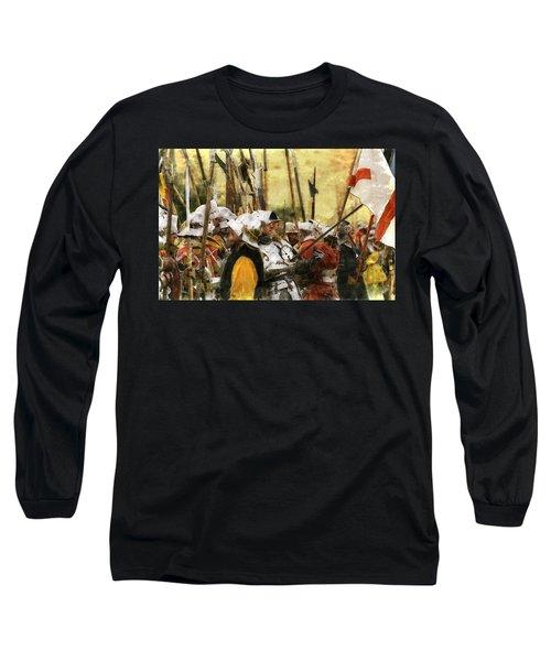 Battle Of Tewkesbury Long Sleeve T-Shirt by Ron Harpham