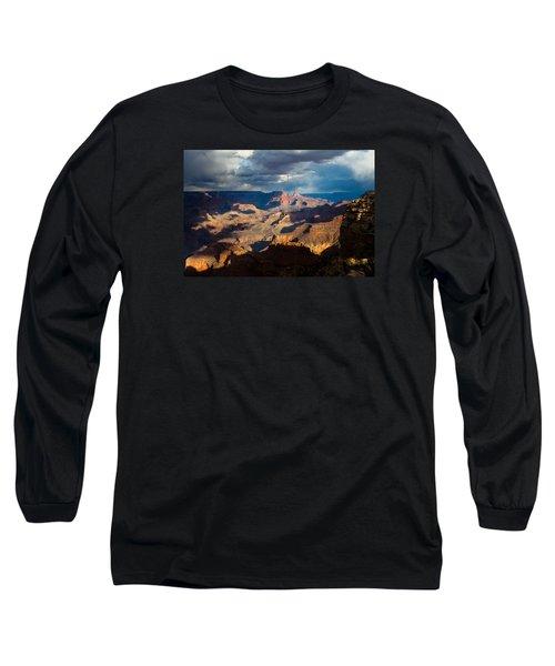 Battleship Rock In The Shadows Long Sleeve T-Shirt