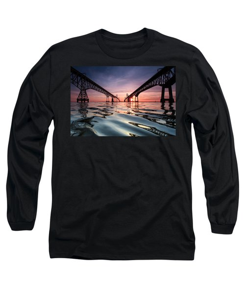 Bay Bridge Reflections Long Sleeve T-Shirt