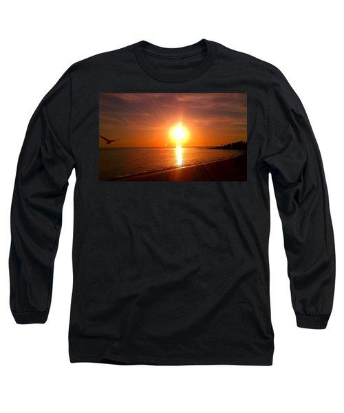 Beach Long Sleeve T-Shirt by Chris Tarpening