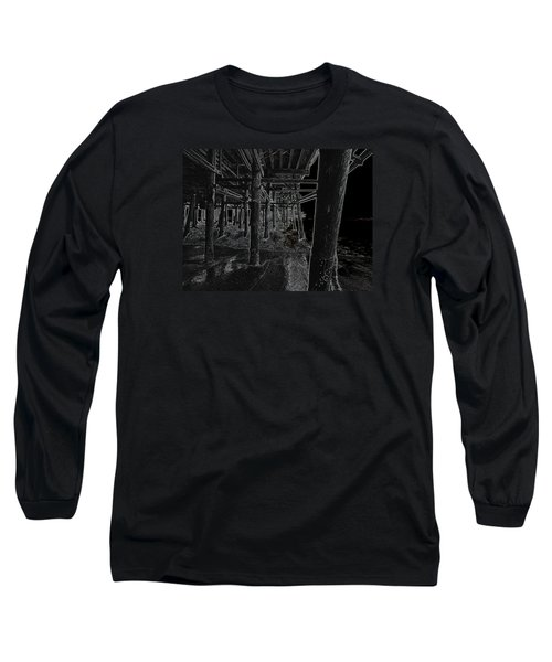 Beach Pier  Underworld  Long Sleeve T-Shirt