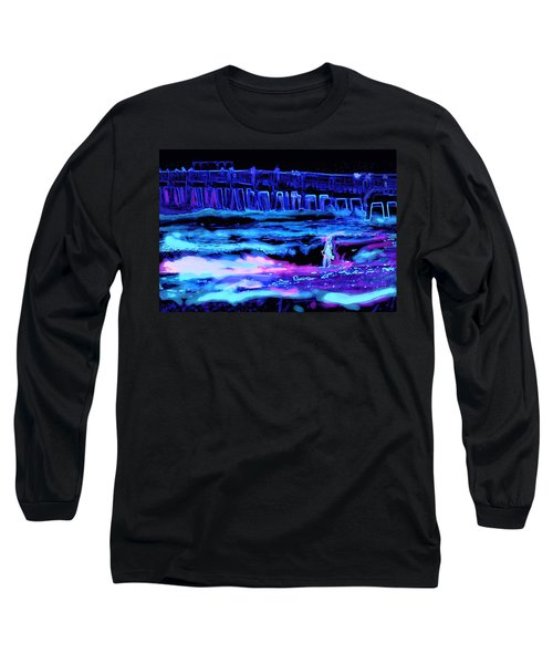 Beach Scene At Night Long Sleeve T-Shirt