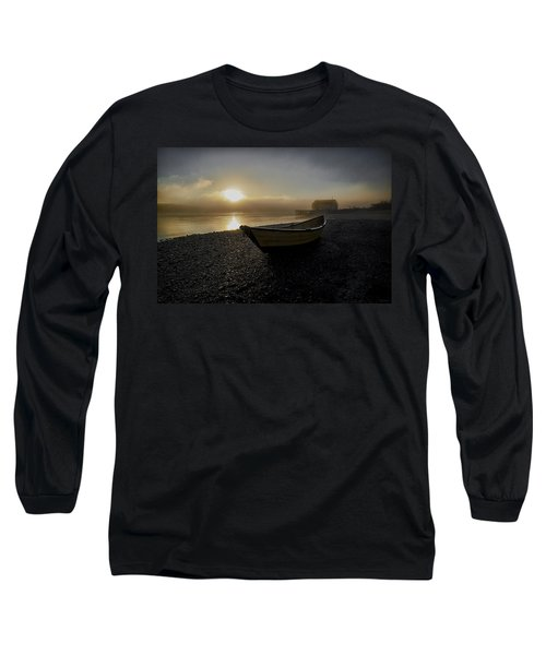Beached Dory In Lifting Fog  Long Sleeve T-Shirt
