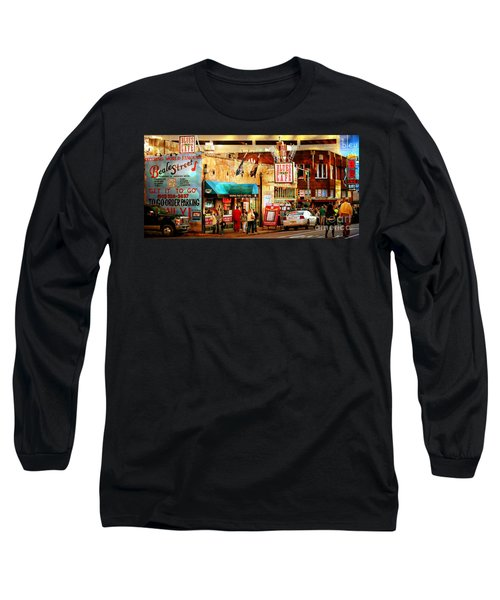 Long Sleeve T-Shirt featuring the photograph Beale Street by Barbara Chichester