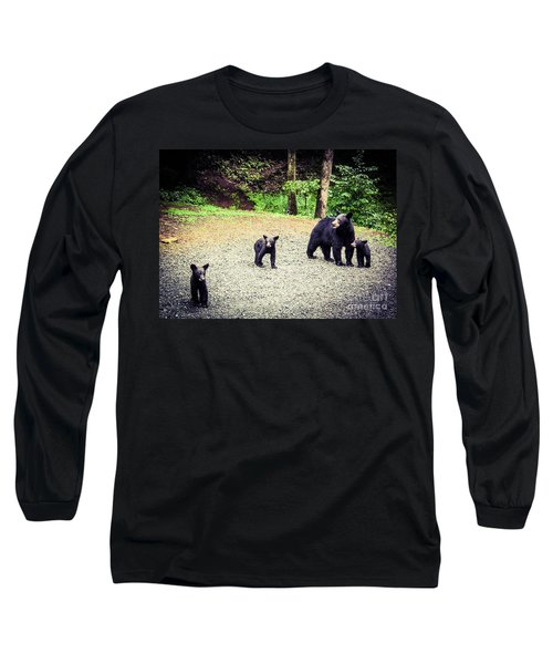 Long Sleeve T-Shirt featuring the photograph Bear Family Affair by Jan Dappen
