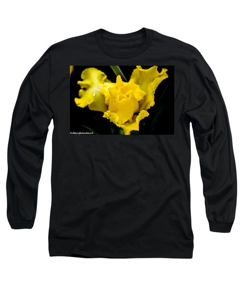 Bearded Iris Morning Dew Long Sleeve T-Shirt
