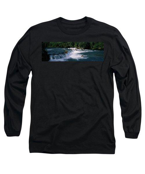 Bears Fish Brooks Fall Katmai Ak Long Sleeve T-Shirt