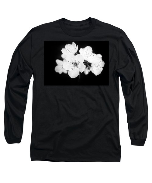Beautiful Blossoms In Black And White Long Sleeve T-Shirt