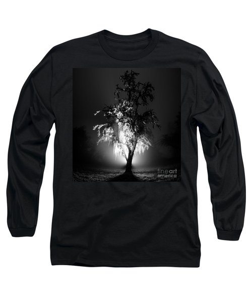 Long Sleeve T-Shirt featuring the photograph Beautiful Foggy Night 1 by Michael Cross