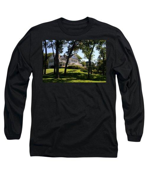 Beautiful Hillside Home Long Sleeve T-Shirt by Kay Novy