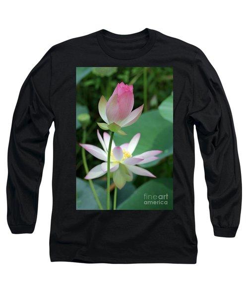 Beautiful Lotus Blooming Long Sleeve T-Shirt
