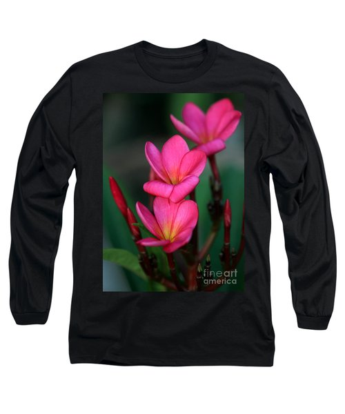 Beautiful Red Plumeria Long Sleeve T-Shirt