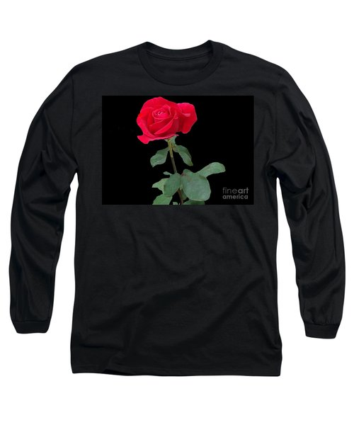 Beautiful Red Rose Long Sleeve T-Shirt