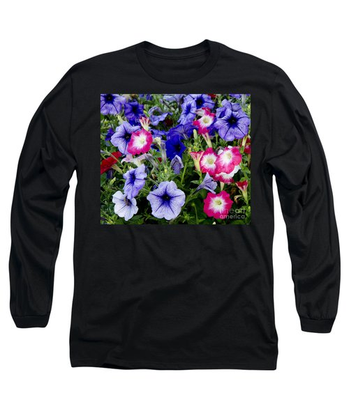 Beautiful Summer Annuals Long Sleeve T-Shirt by Wilma  Birdwell