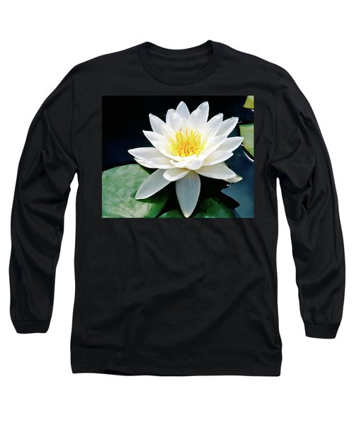 Beautiful Water Lily Capture Long Sleeve T-Shirt by Ed  Riche