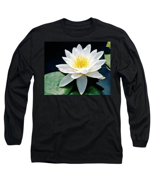 Beautiful Water Lily Capture Long Sleeve T-Shirt