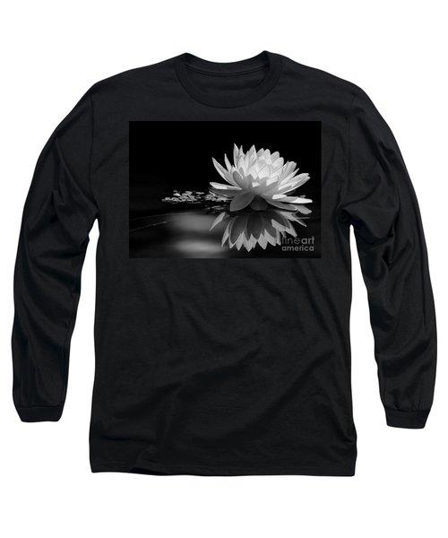 Beautiful Water Lily Reflections Long Sleeve T-Shirt