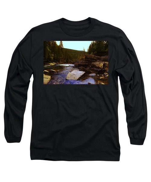 Beautiful Yak River Montana Long Sleeve T-Shirt by Jeff Swan