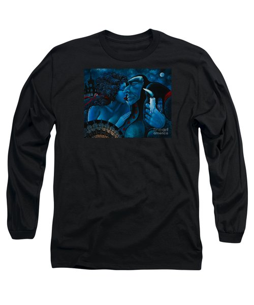 Long Sleeve T-Shirt featuring the painting Beauty And The Beast by Igor Postash