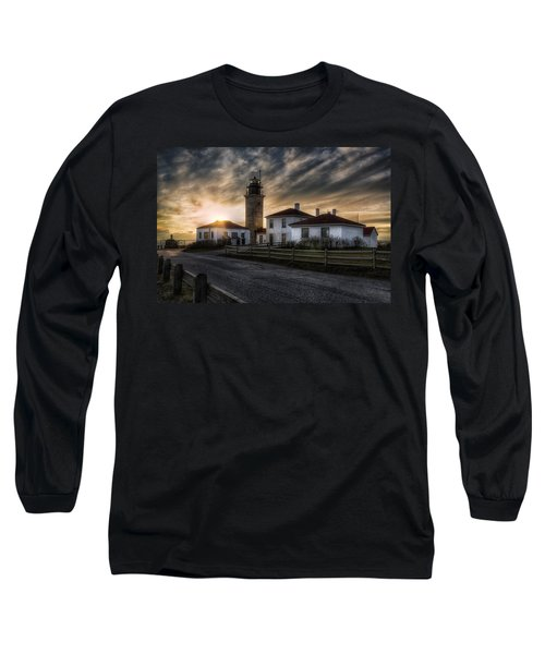 Beavertail Lighthouse Sunset Long Sleeve T-Shirt