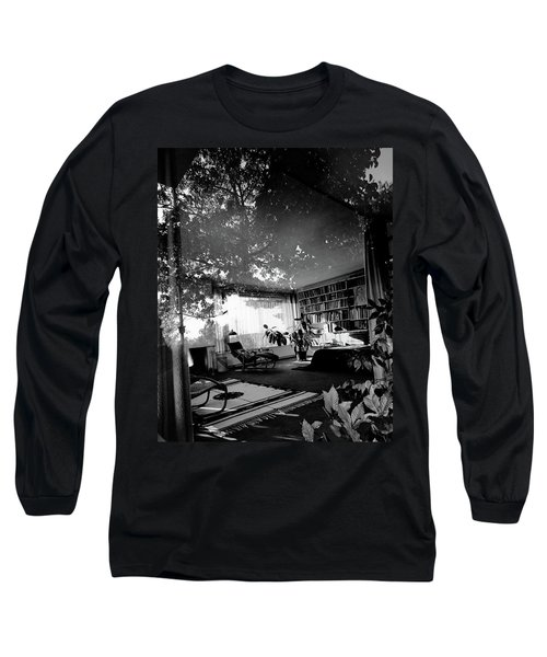 Bedroom Seen Through Glass From The Outside Long Sleeve T-Shirt