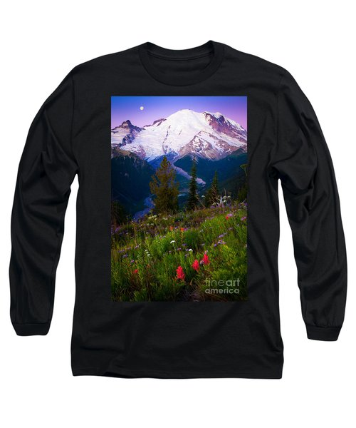 Before Dawn At Mount Rainier Long Sleeve T-Shirt