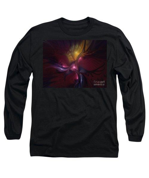 Before Dawn-fractal Art Long Sleeve T-Shirt