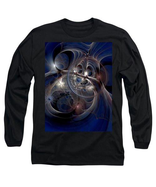 Long Sleeve T-Shirt featuring the digital art Beguiled At Twilight by Casey Kotas