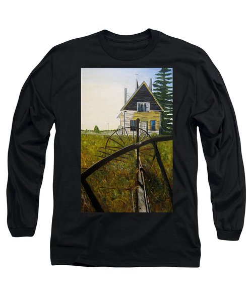 Long Sleeve T-Shirt featuring the painting Behind The Old Church by Marilyn  McNish