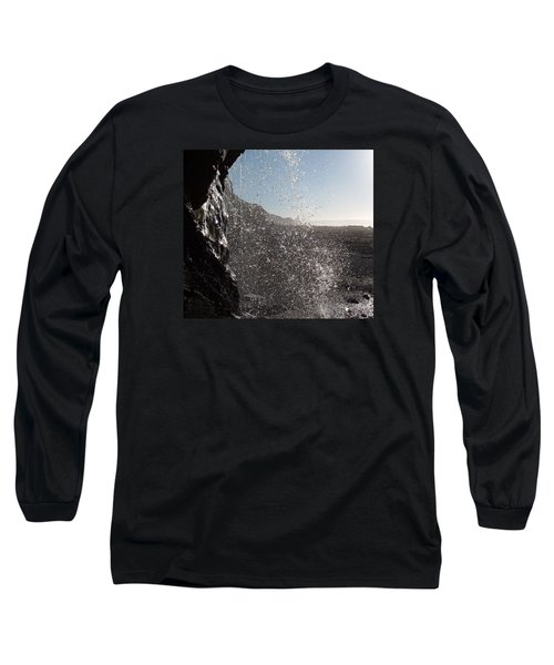 Behind The Waterfall Long Sleeve T-Shirt by Richard Brookes