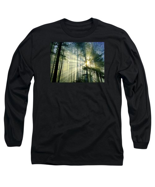 Behold The Light In The Fall Forest Long Sleeve T-Shirt