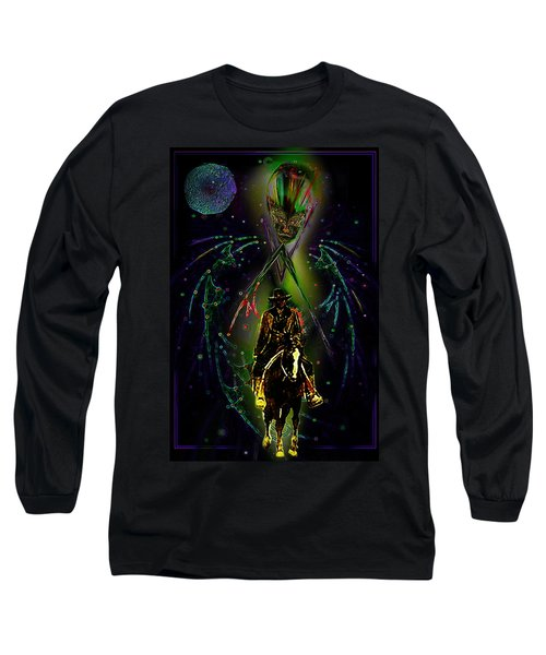 Long Sleeve T-Shirt featuring the digital art Behold The Pale Rider  by Hartmut Jager