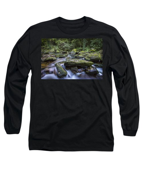 Long Sleeve T-Shirt featuring the photograph Belelle River Neda Galicia Spain by Pablo Avanzini