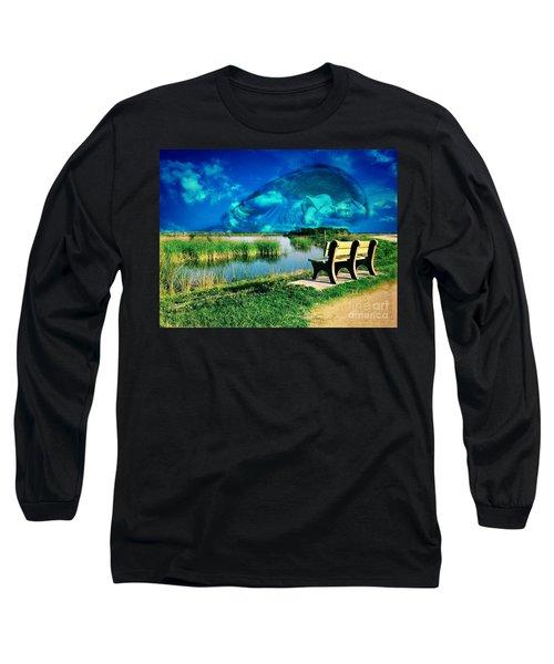 Believe In Your Dreams Long Sleeve T-Shirt by Carlos Avila