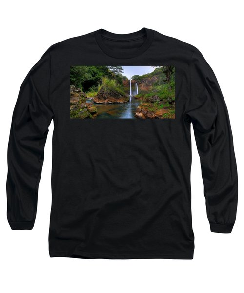 Below Wailua Falls Long Sleeve T-Shirt