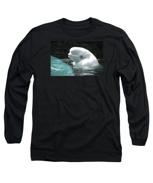 Beluga Whale Long Sleeve T-Shirt by Brian Chase