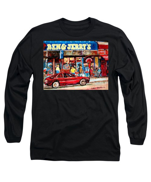 Ben And Jerrys Ice Cream Parlor Long Sleeve T-Shirt by Carole Spandau