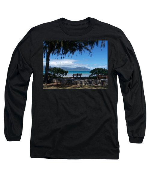 Bench Of Kaneohe Bay Hawaii Long Sleeve T-Shirt