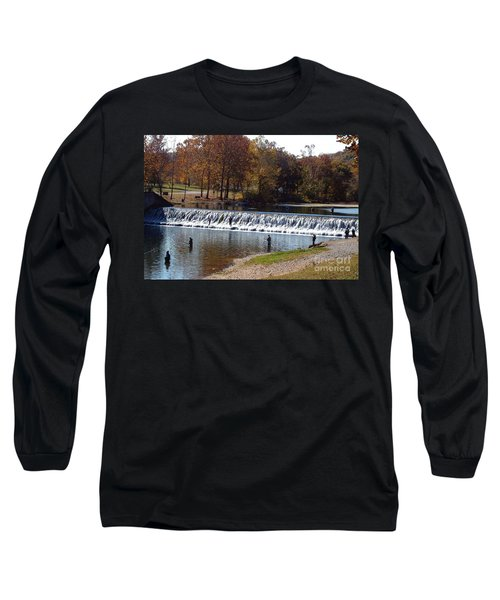 Long Sleeve T-Shirt featuring the photograph Bennett Springs Spillway by Sara  Raber