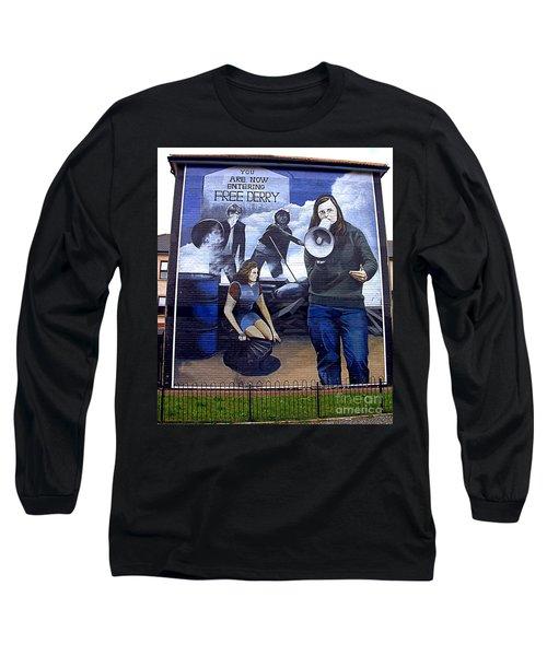 Bernadette Devlin Mural Long Sleeve T-Shirt