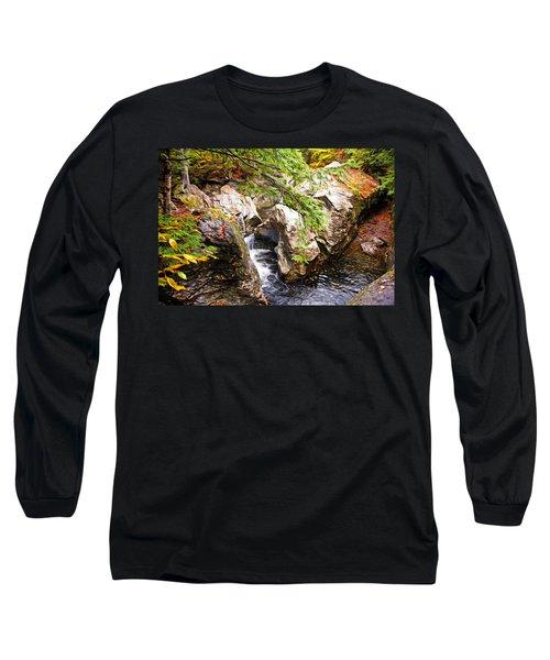 Beside The Water Long Sleeve T-Shirt by Bill Howard