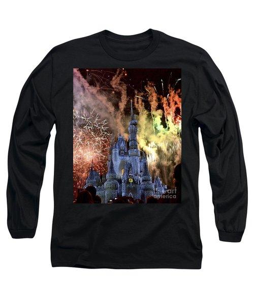 Christmas Wishes Long Sleeve T-Shirt by Carol  Bradley