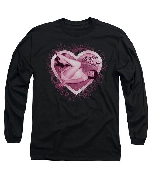 Bettie Page - Light Hearted Long Sleeve T-Shirt