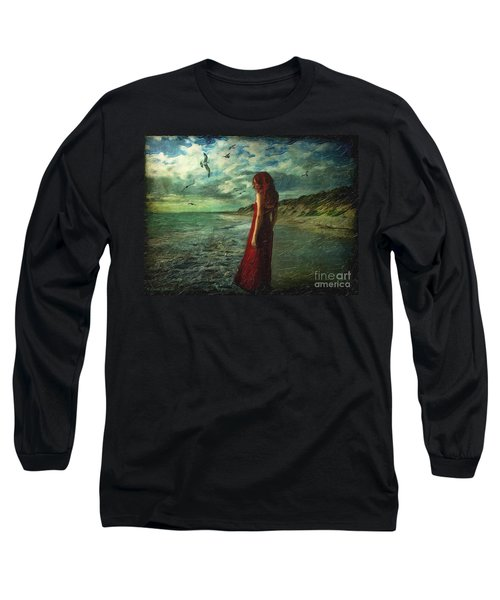 Between Sea And Shore Long Sleeve T-Shirt by Lianne Schneider